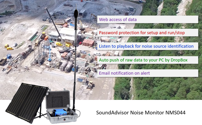 SoundAdvisor 4G Solar Panel monitoring kit NMS044 Noise Monitoring System